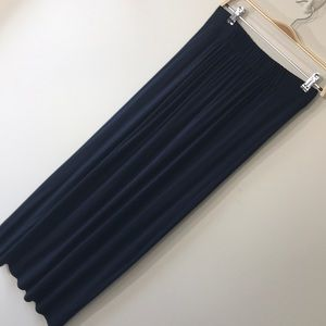 Cabi maxi skirt or strapless dress navy